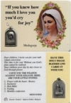 Laminated Prayer Card With Medal