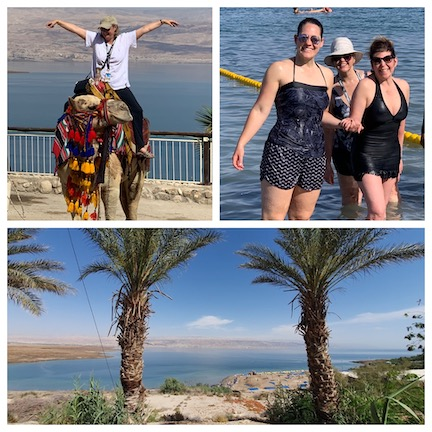 WCNLJUN19 HOLY LAND PIC 26 DAY SIX RIDING CAMELS AND FLOATING IN THE DEAD SEA