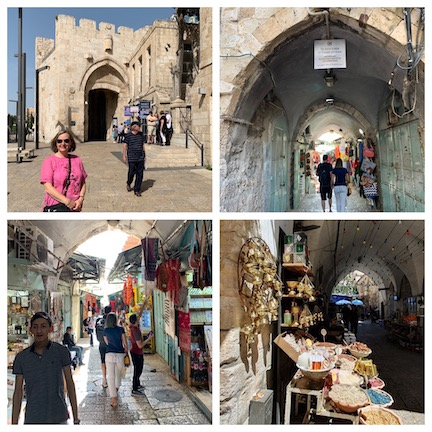 WCNLJUN19 HOLY LAND PIC 27 DAY SEVEN JAFFA GATE AND THE STREETS OF OLD JERUSALEM